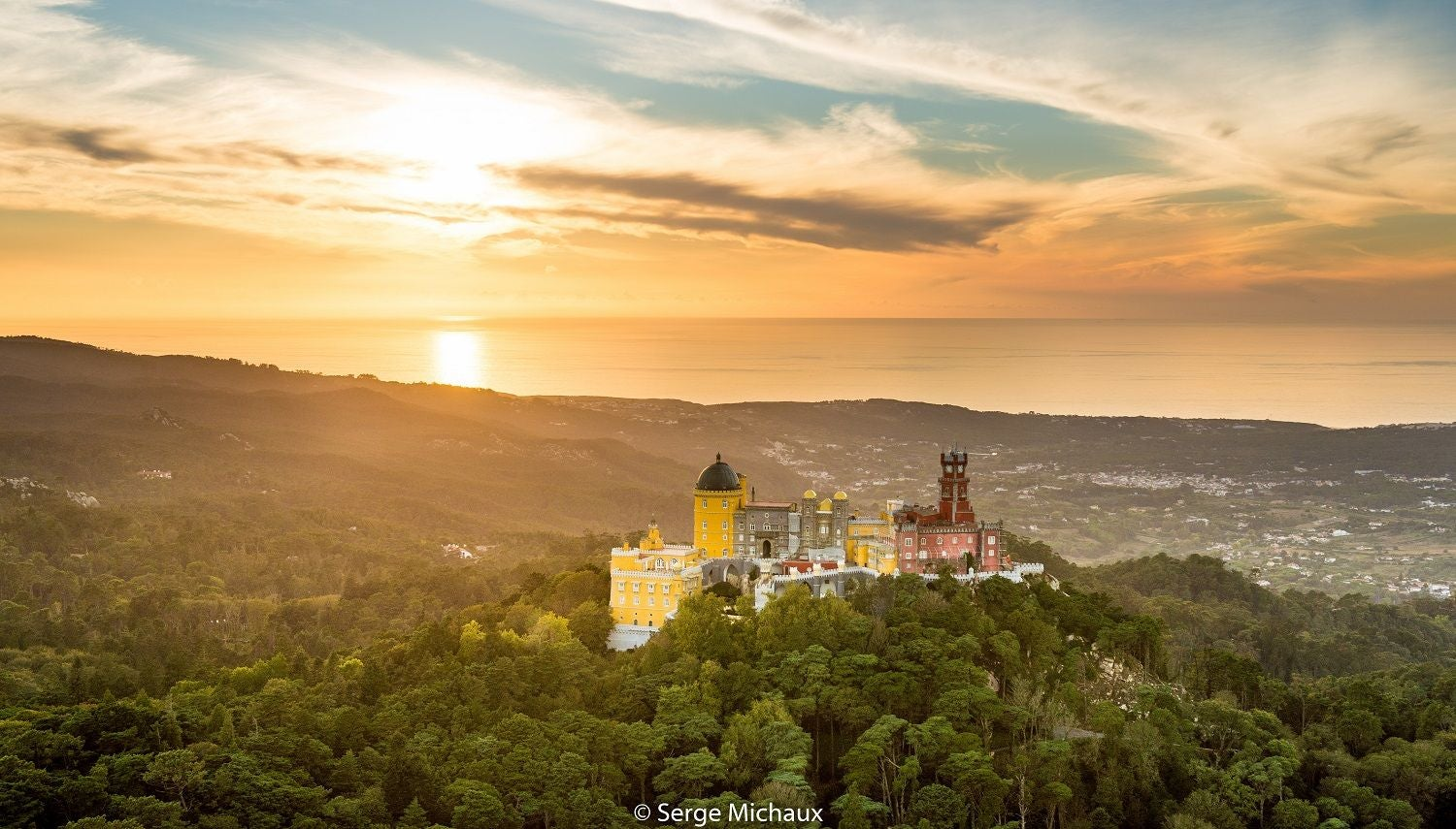 Sunset in Pena National Palace
