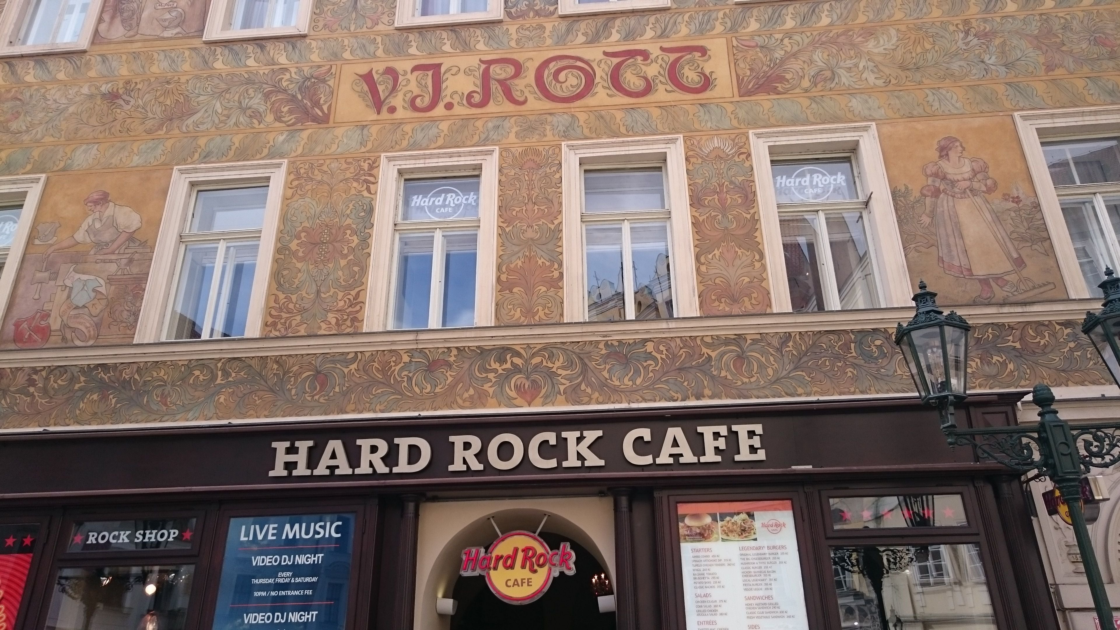 Ventana en Hard Rock Cafe Praga