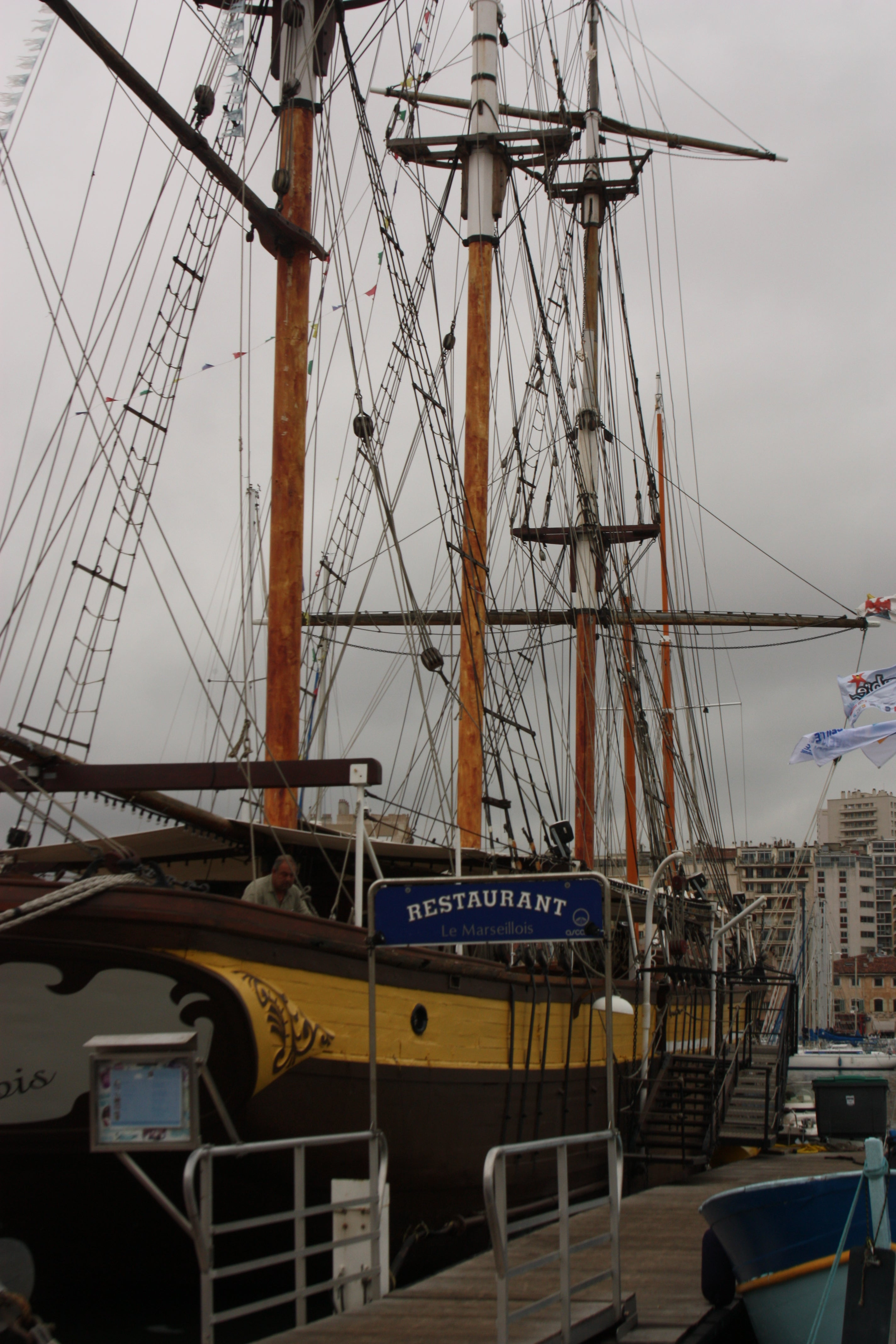 Training Ship in Port of Marseille
