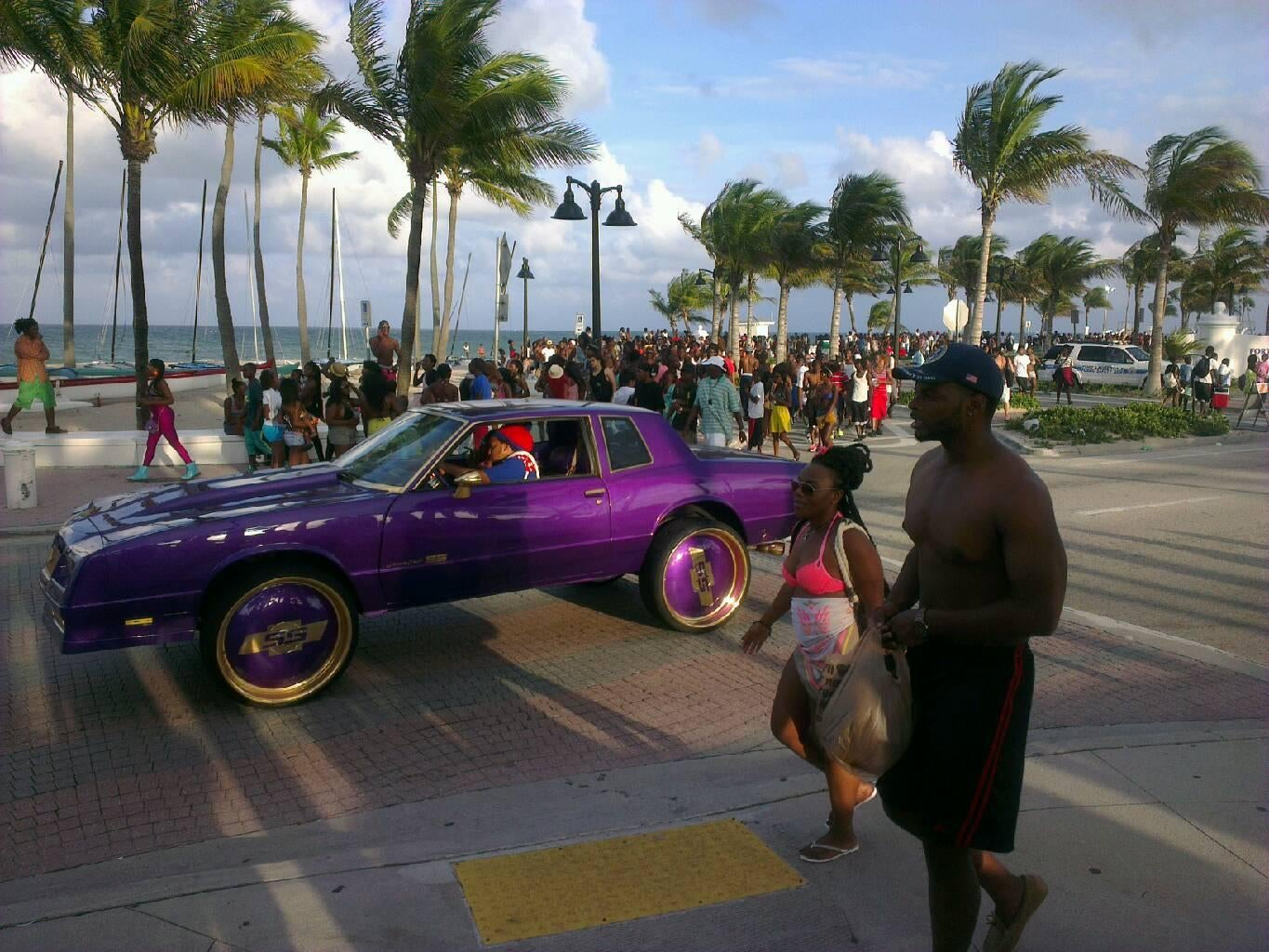 Carrera de coches en South Beach