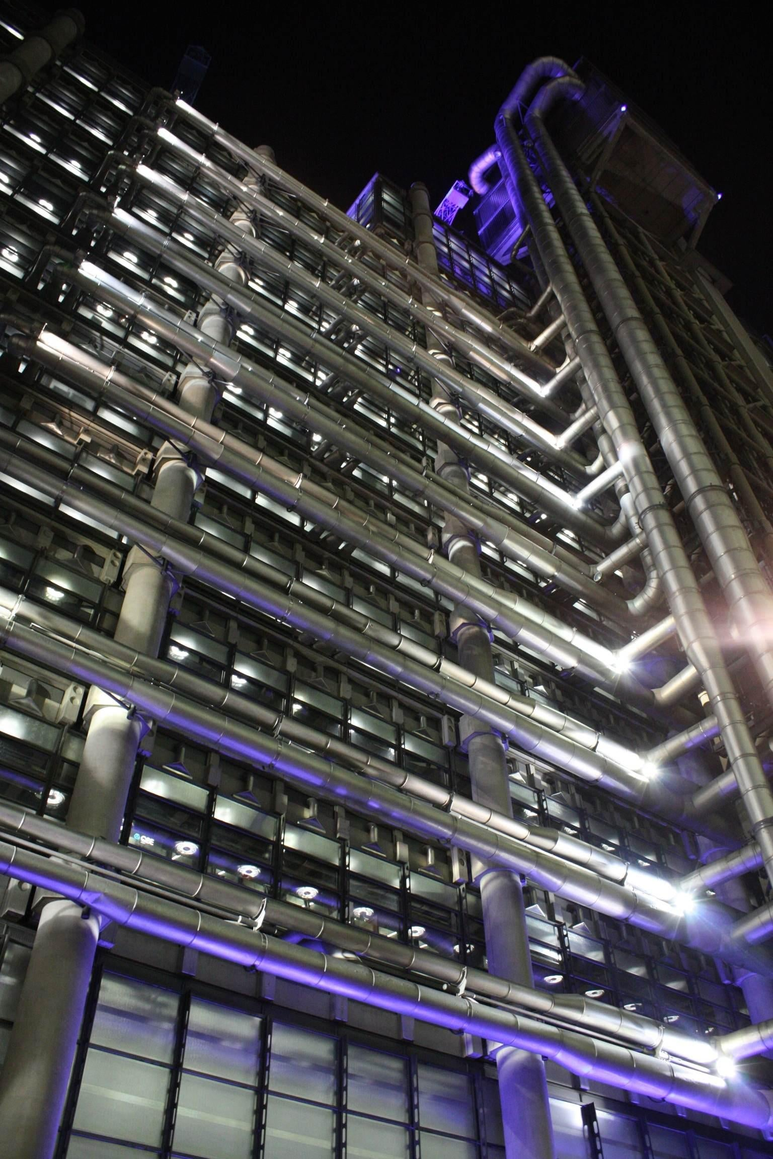 Noche en Lloyd's London Building