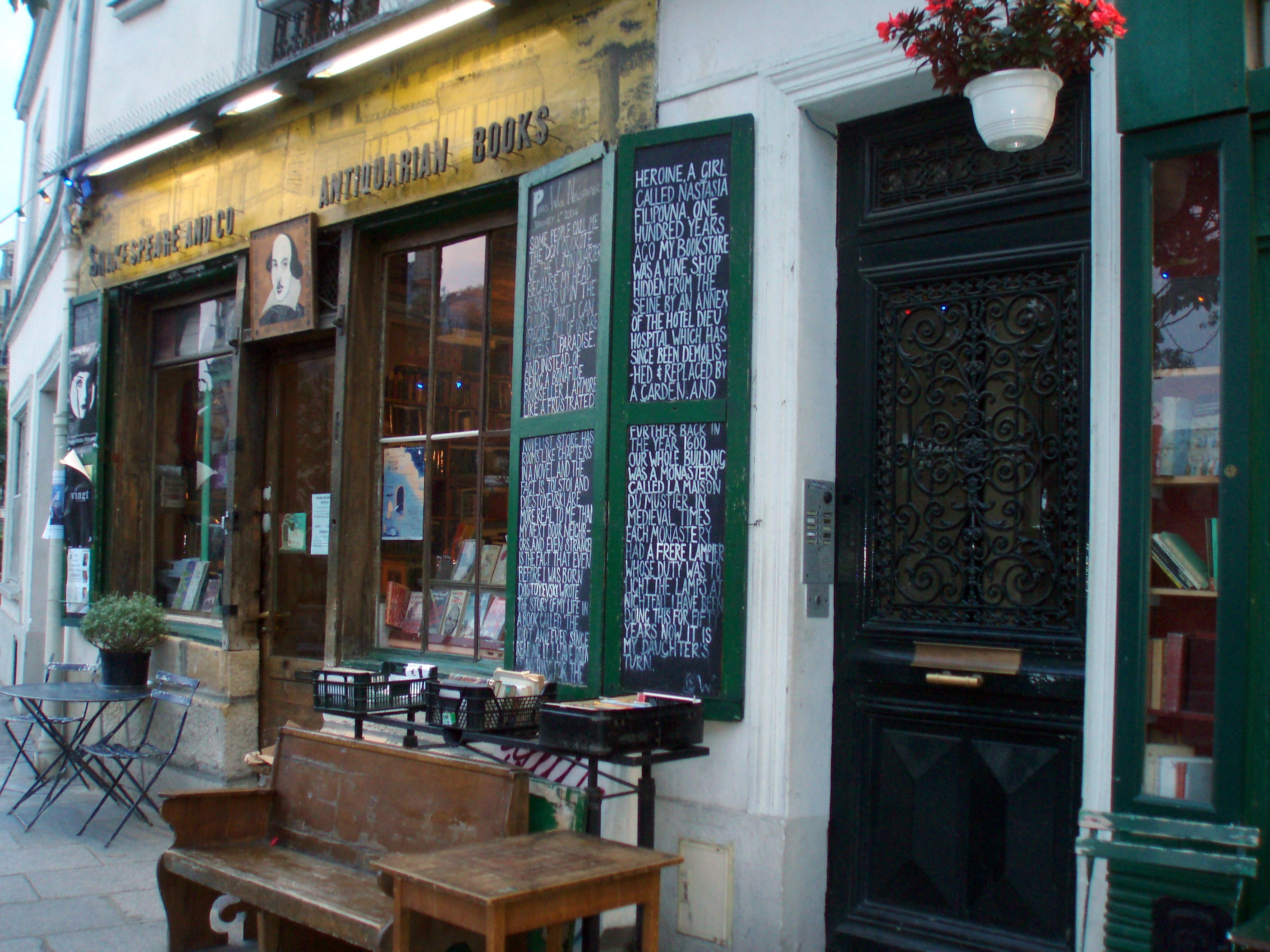 Bar en Shakespeare & Co.