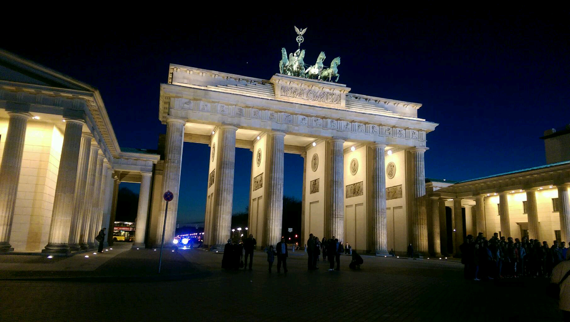 Blue in Brandenburg Gate
