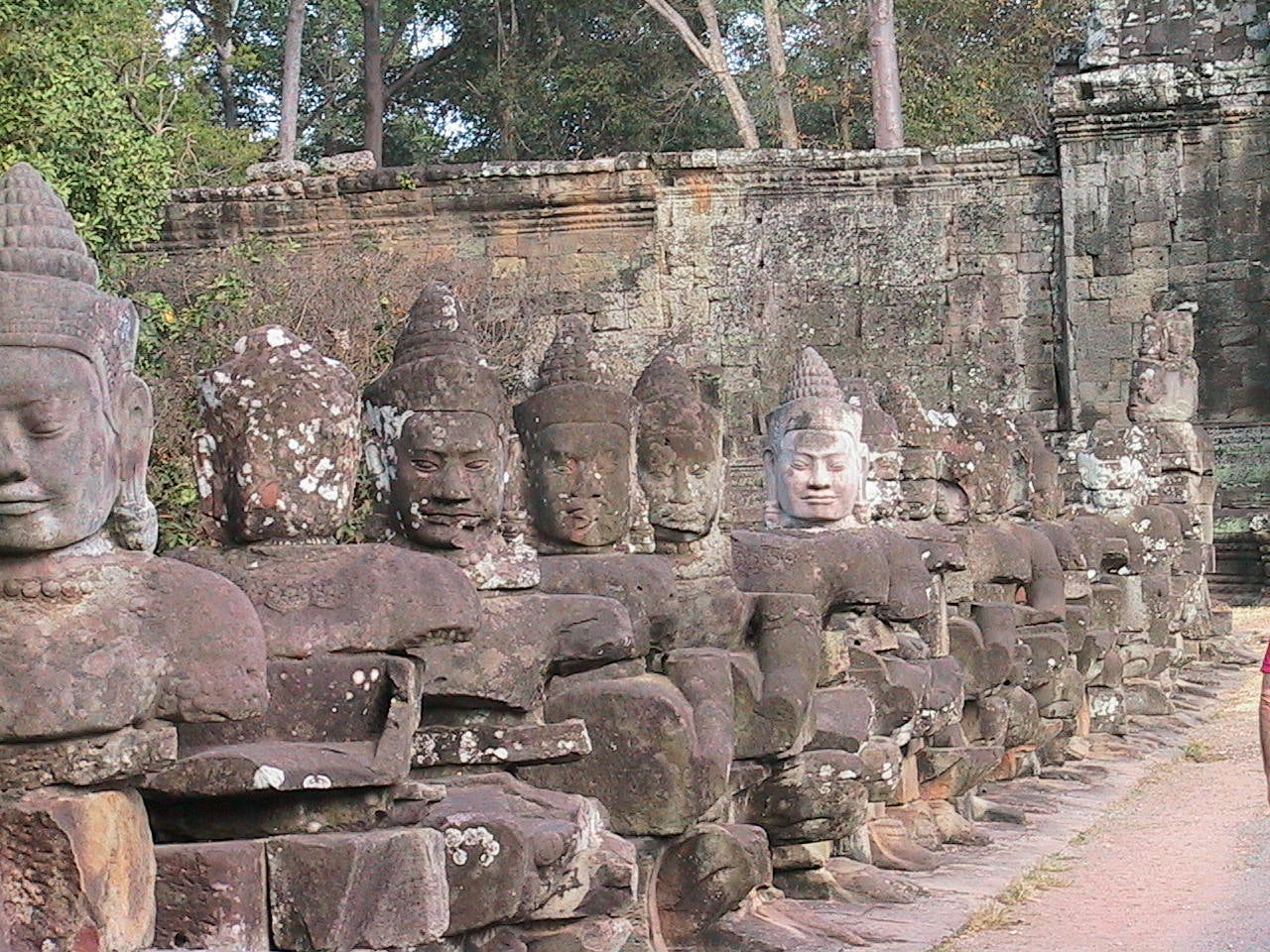 Pared en Angkor Thom