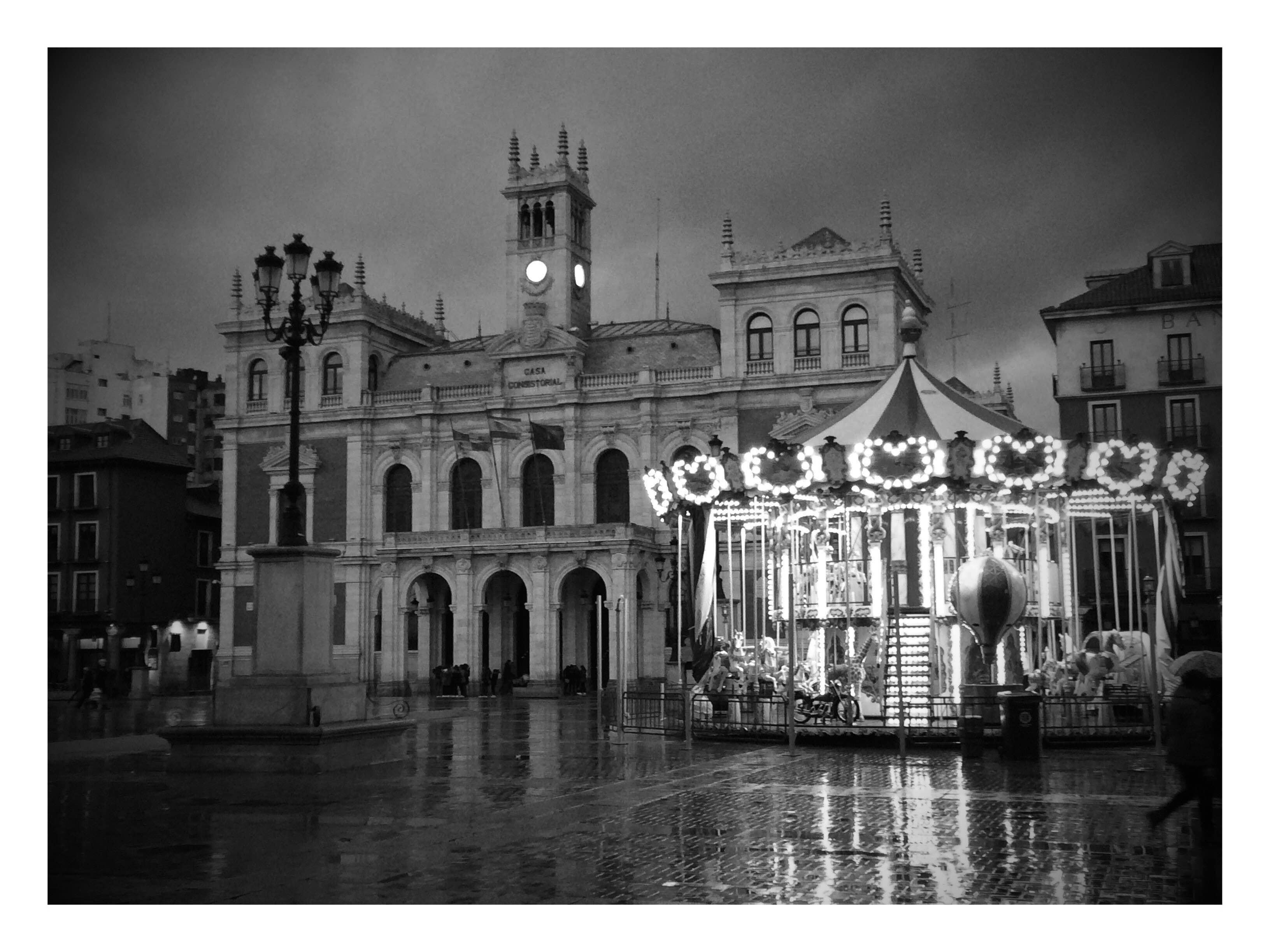 Blanco y negro en Plaza Mayor