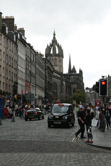 Paisaje urbano en Royal Mile