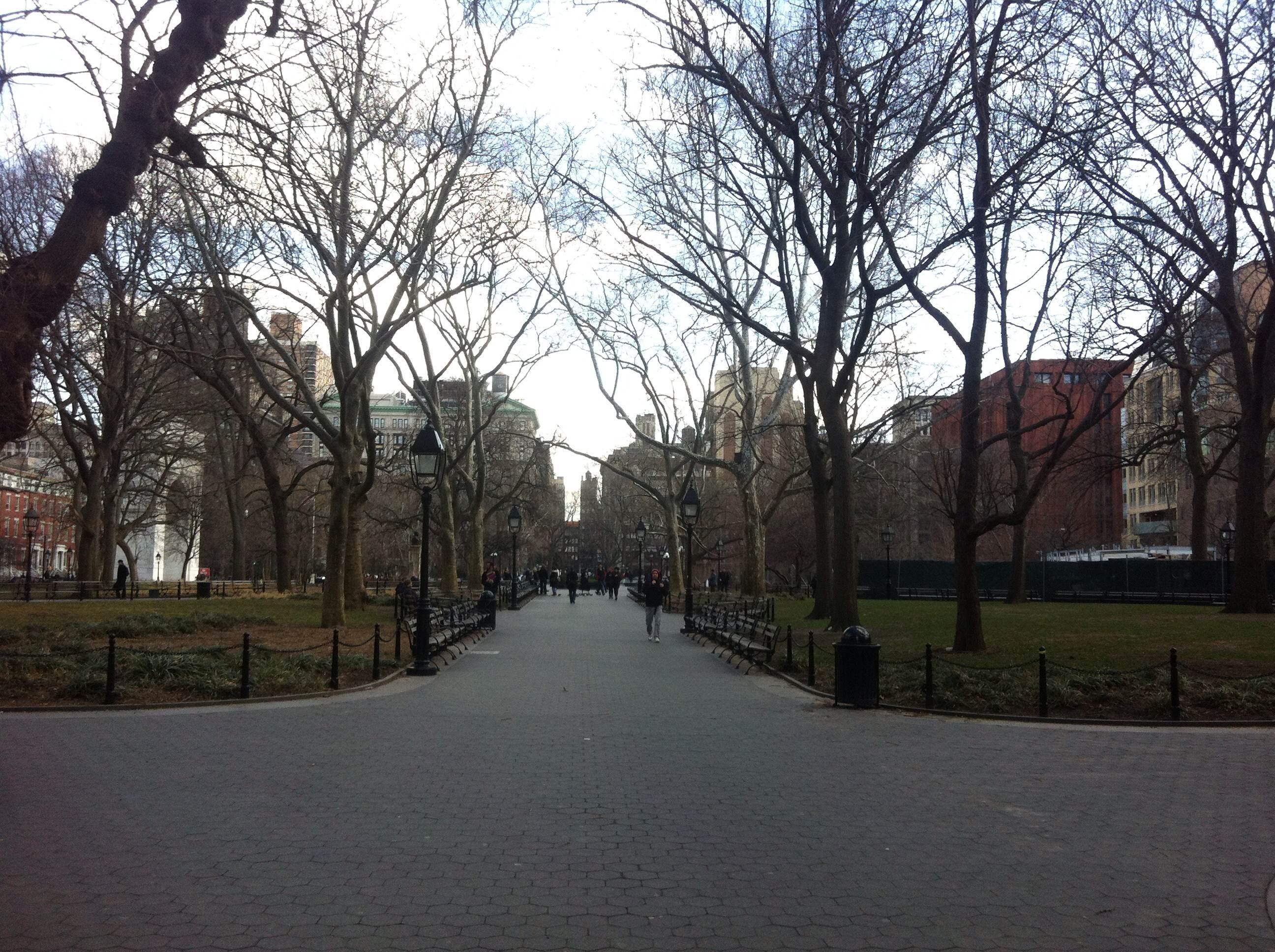 Calle en Washington Square Park