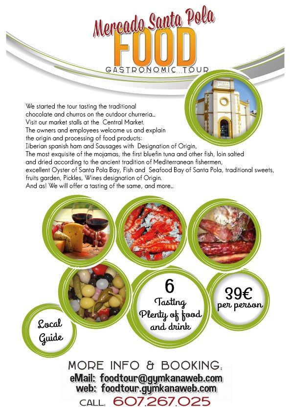 Documento en Food Tour Santa Pola