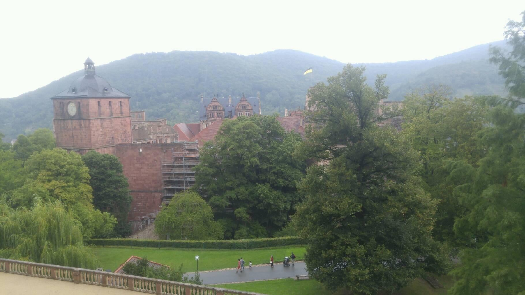 Embalse en Castillo de Heidelberg