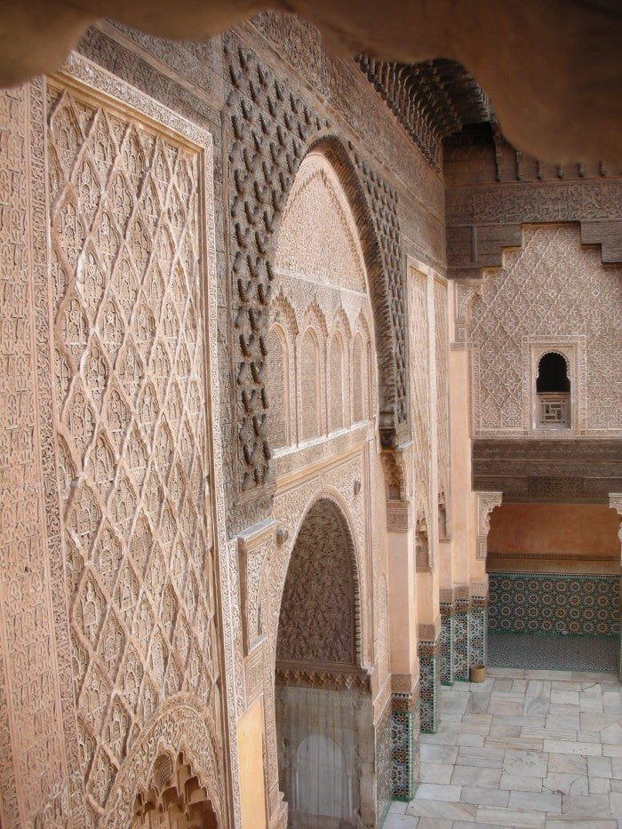 Pared en Madraza de Ben Youssef