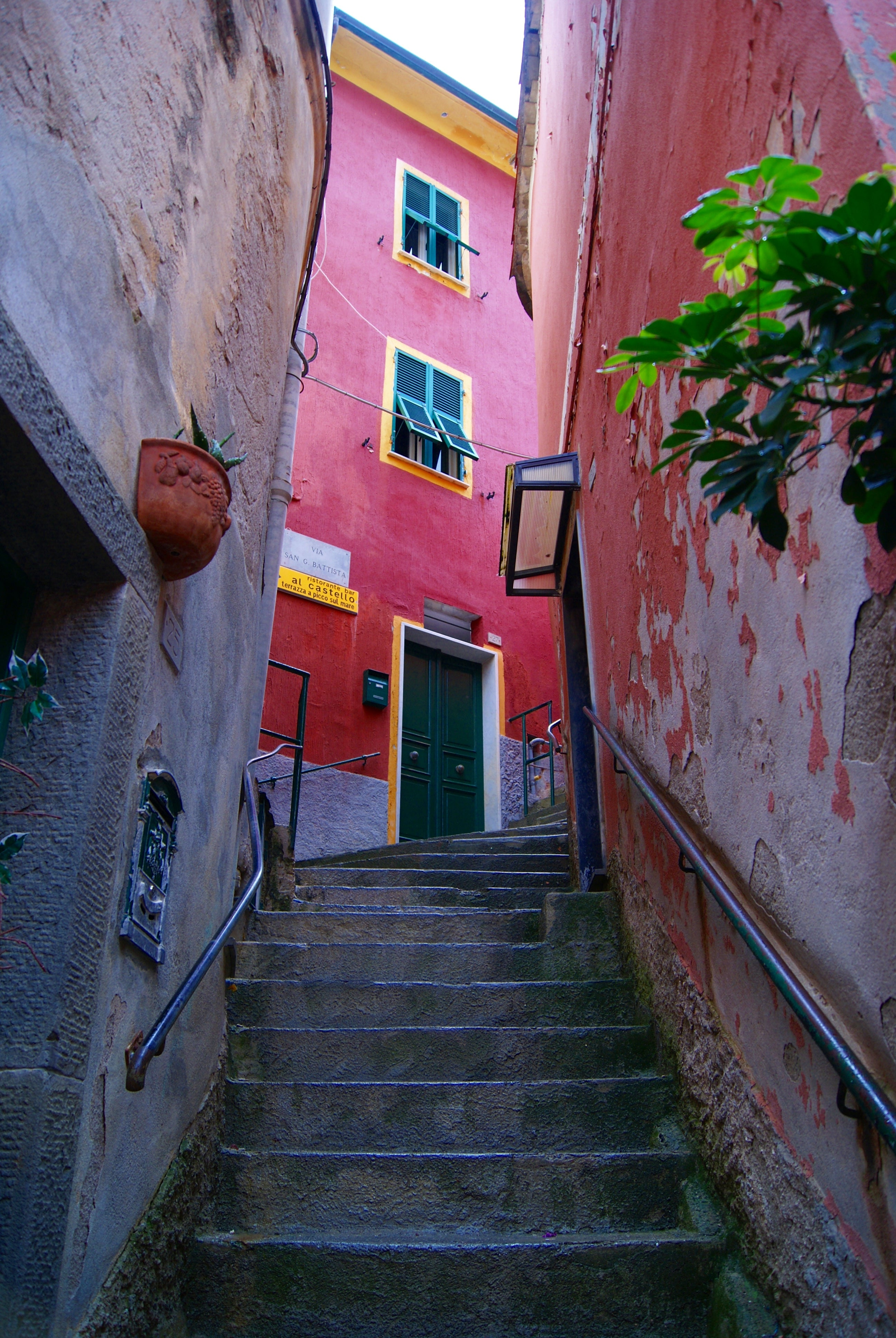 Color rosa en Vernazza