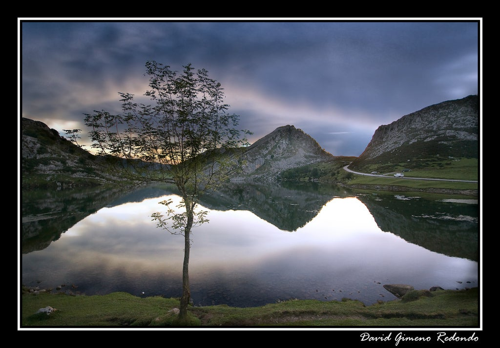 Led Backlit Lcd Display in The Lakes of Covadonga - Enol and Ercina lakes