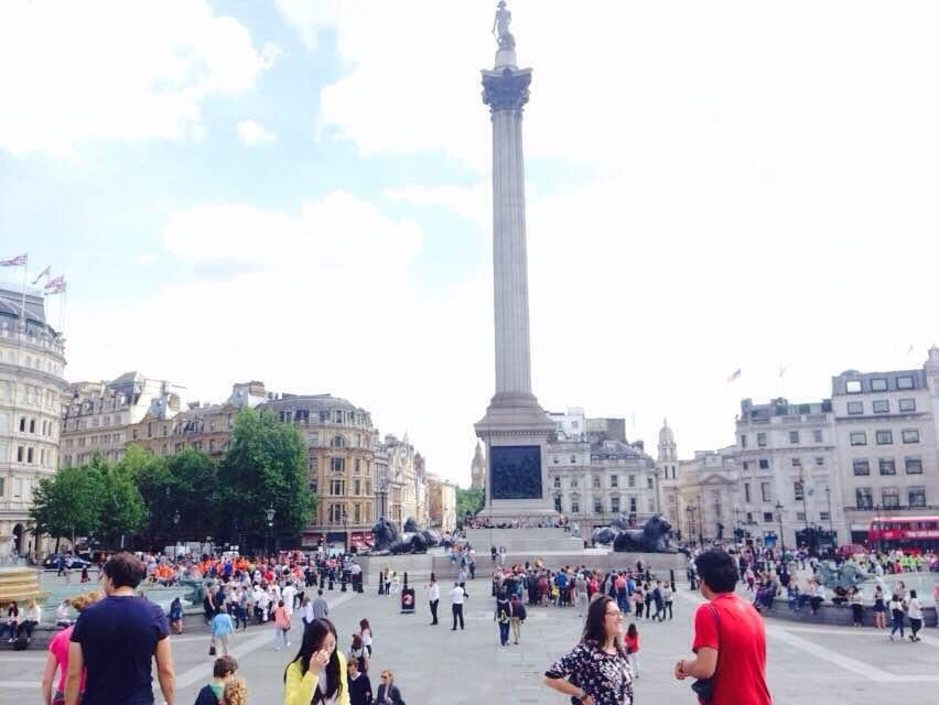 Multitud en Trafalgar Square