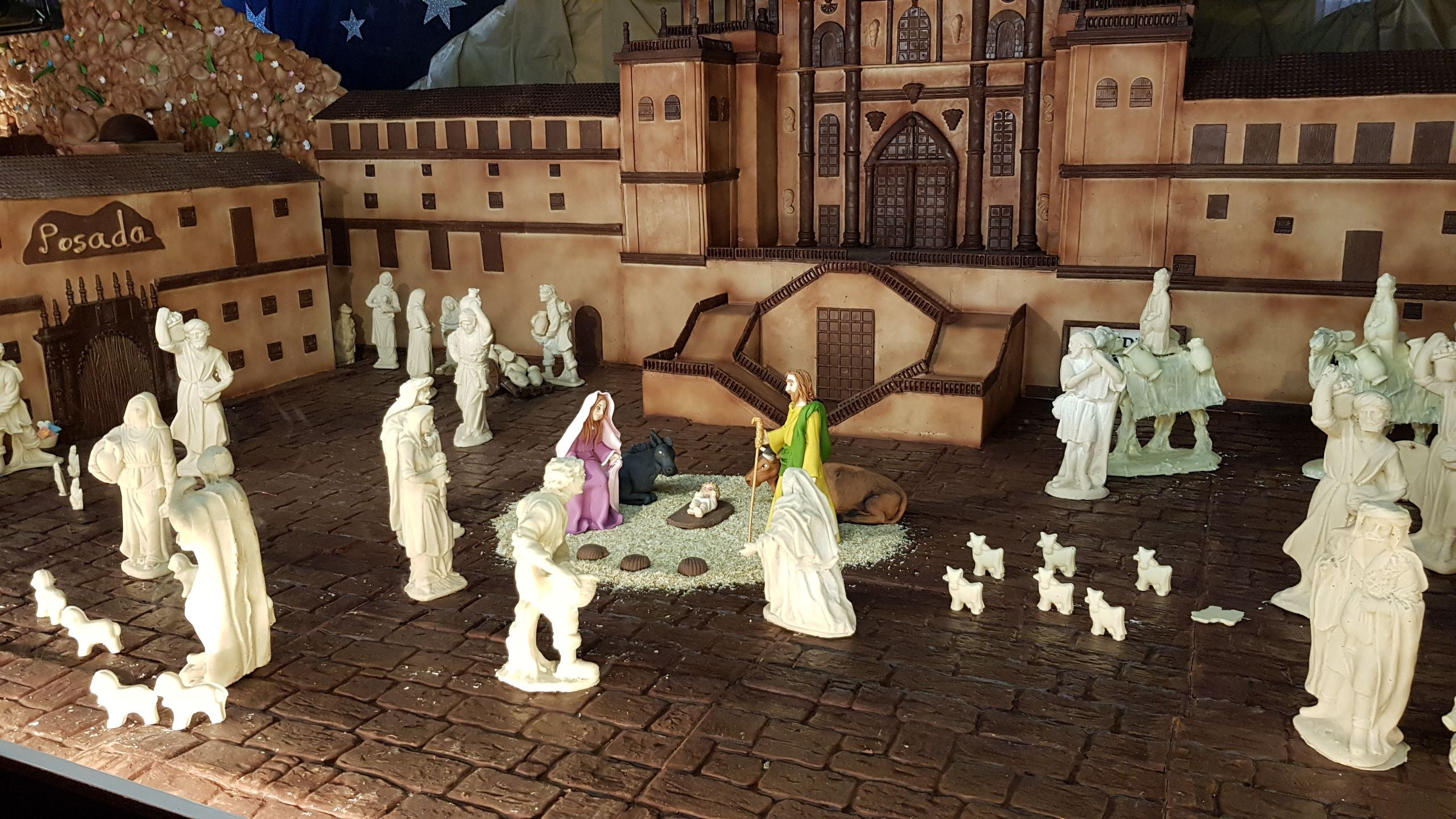 Miniatura The largest Spain chocolate Bethlehem