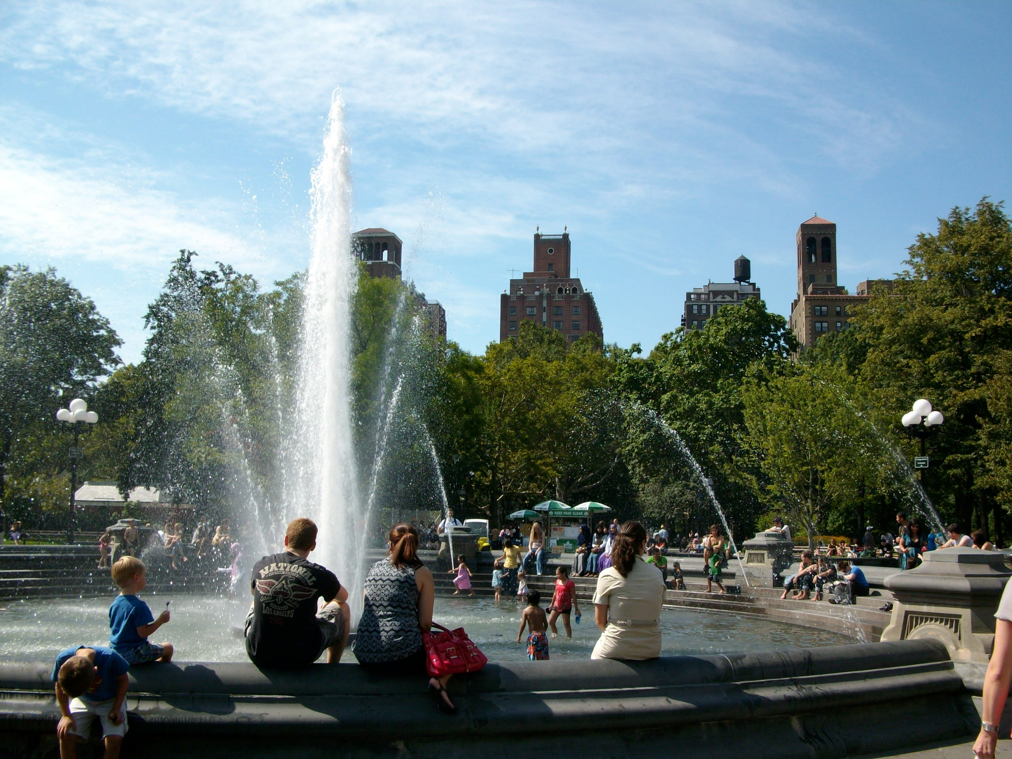 Plaza en Washington Square Park