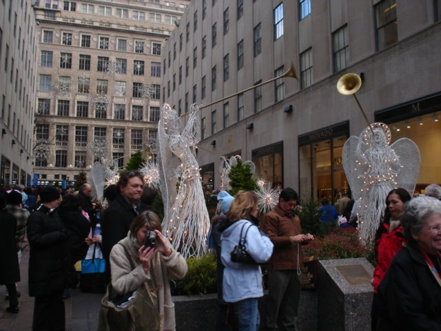 Personas en Rockefeller Center