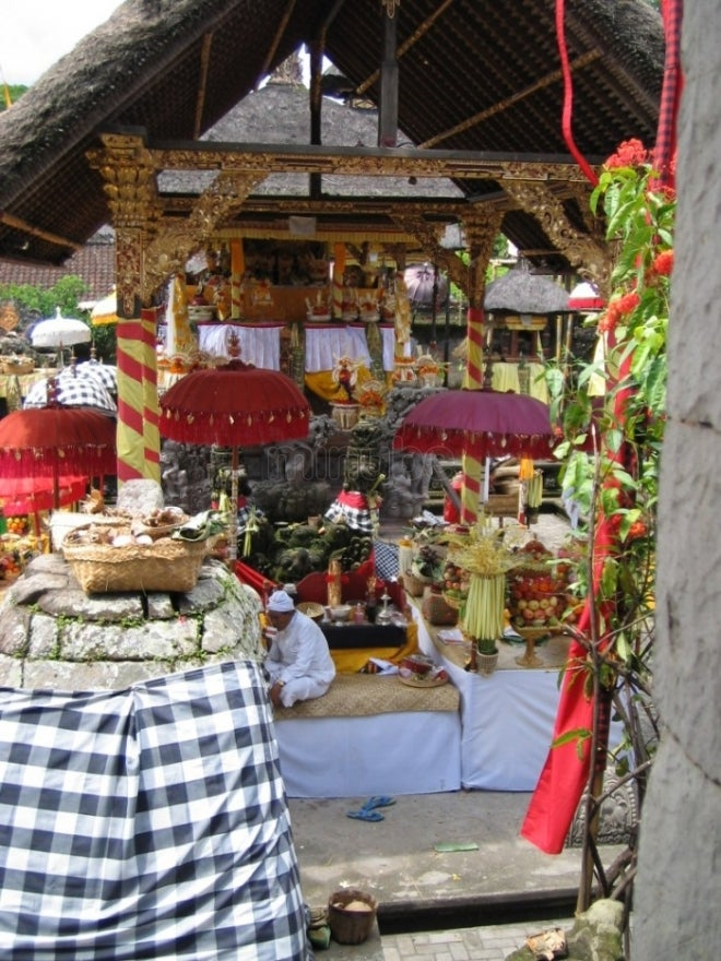 Mercado en Tanah lot