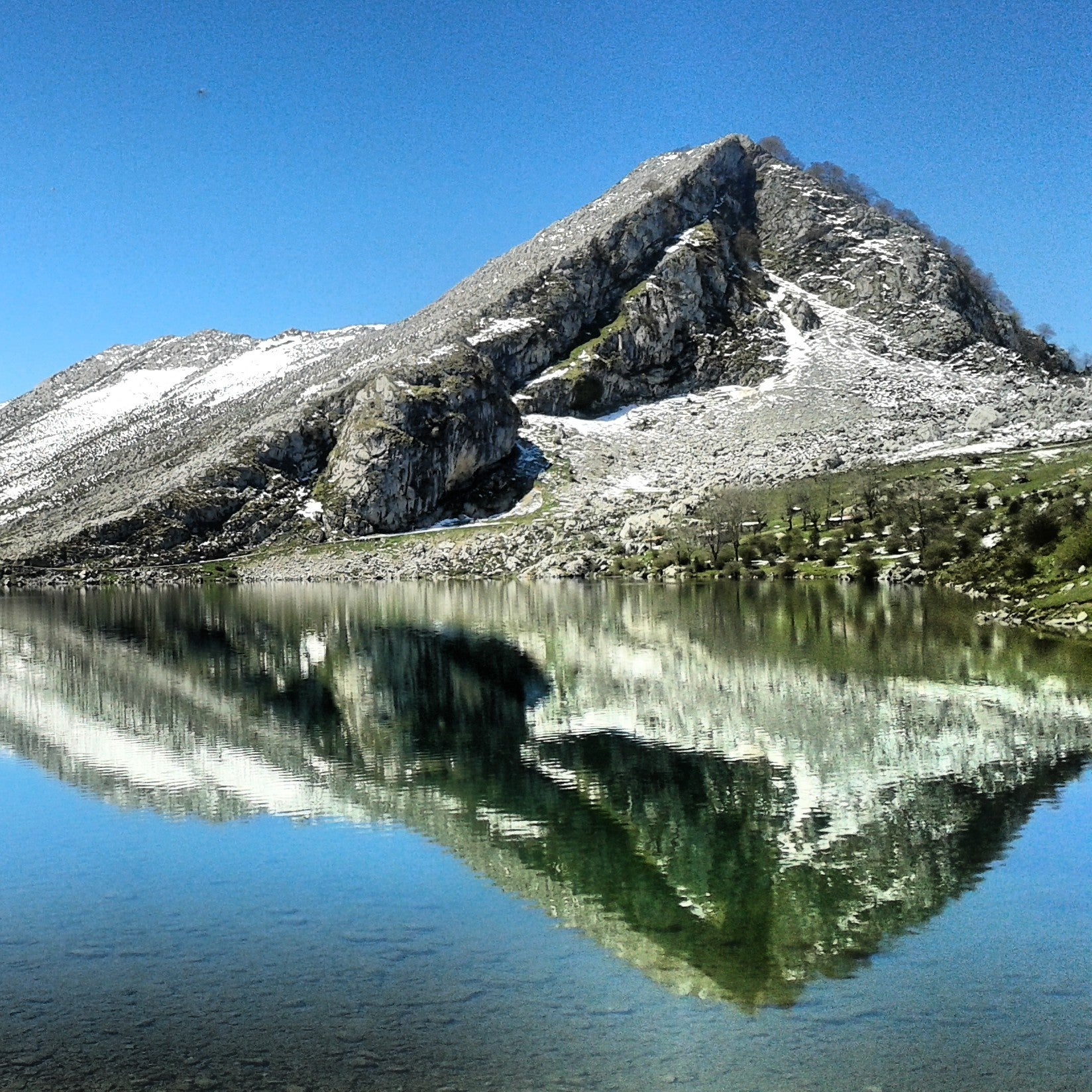 Mountain Range in The Lakes of Covadonga - Enol and Ercina lakes