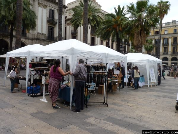 Mercado en Plaza Real