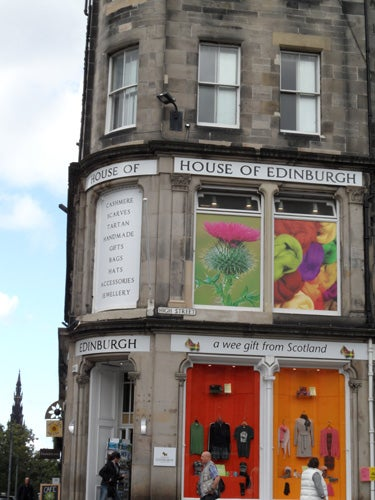 Ventana en Royal Mile