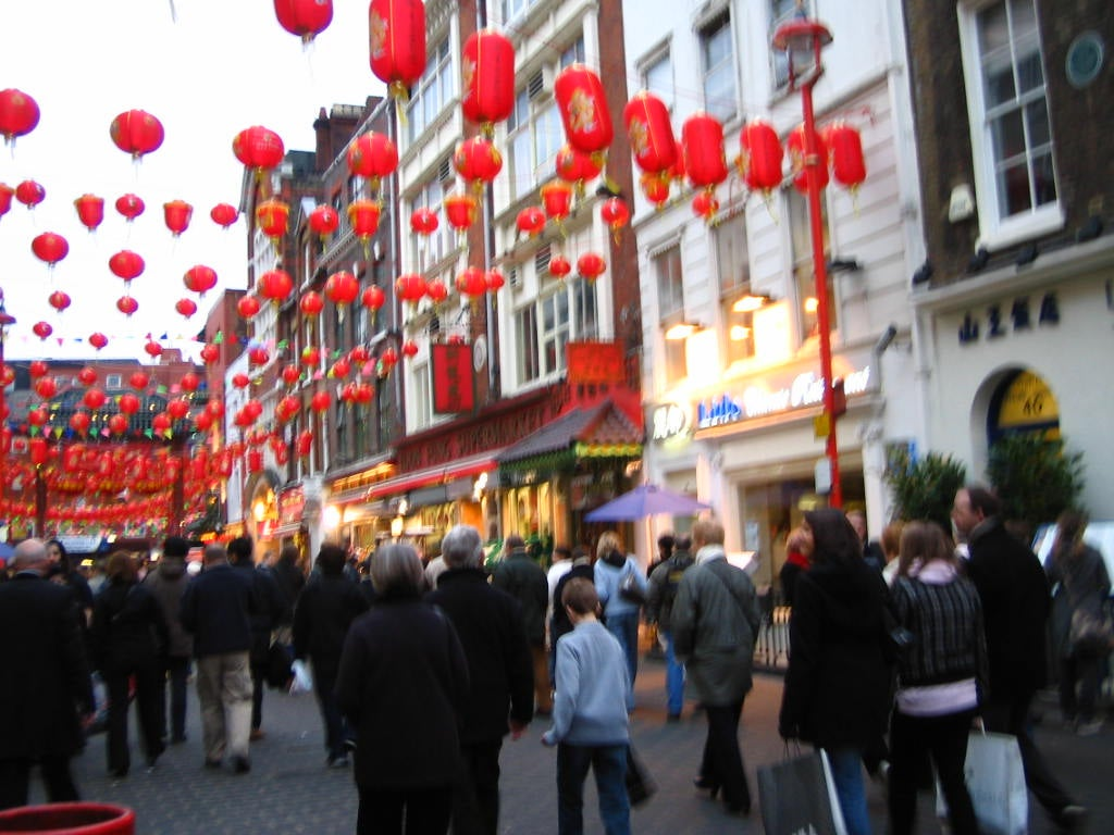 Multitud en Chinatown