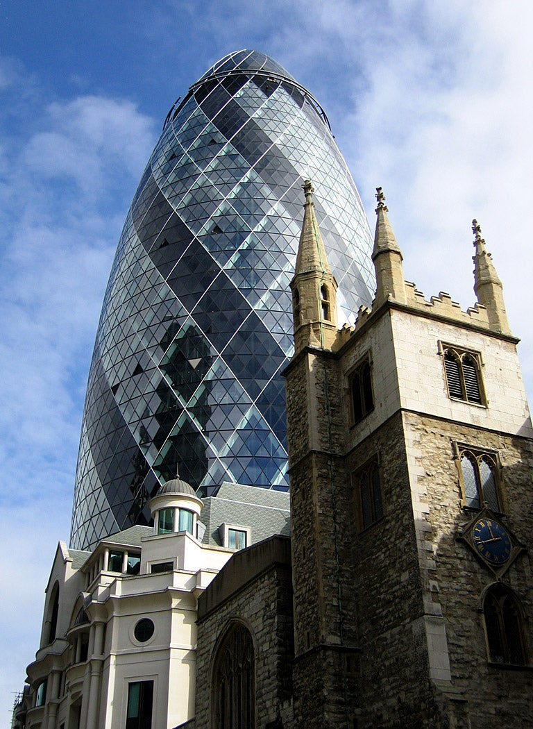 Edificio en Swiss Re Tower - Torre Gherkin