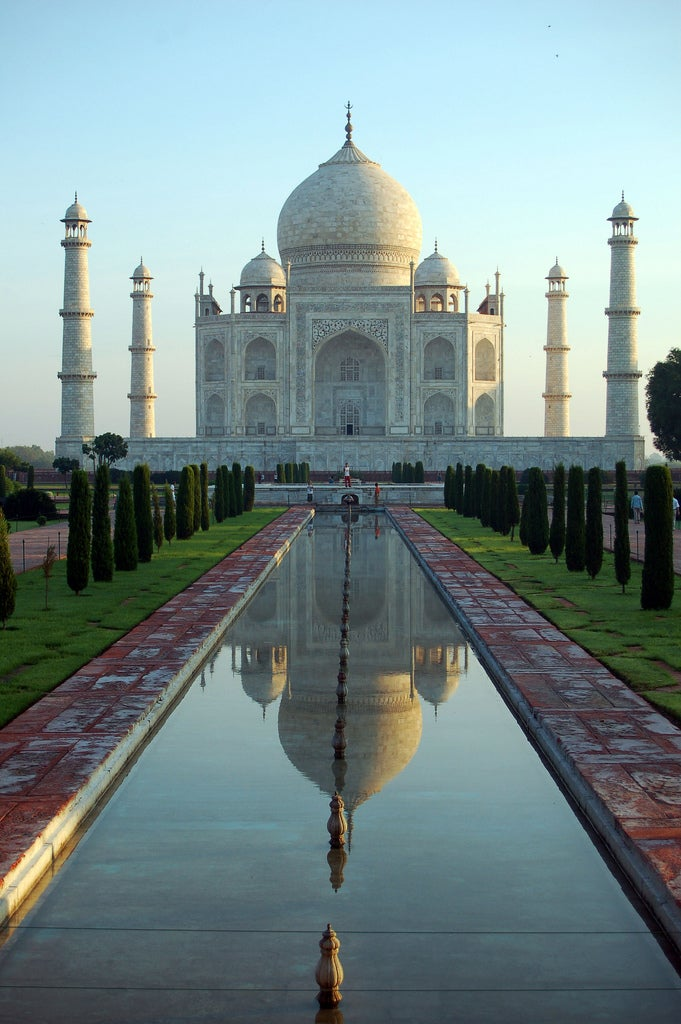 Anochecer en Taj Mahal