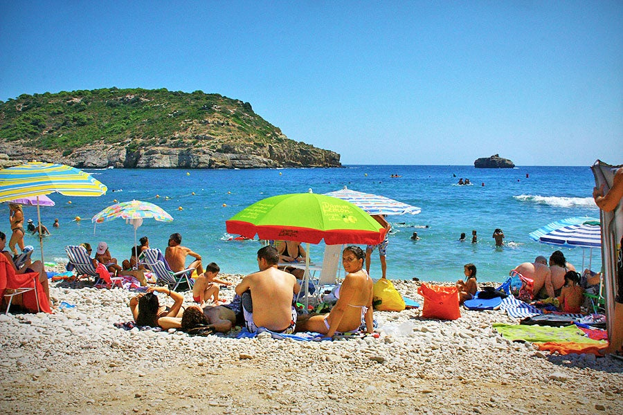 Playa en Cala Portitxol