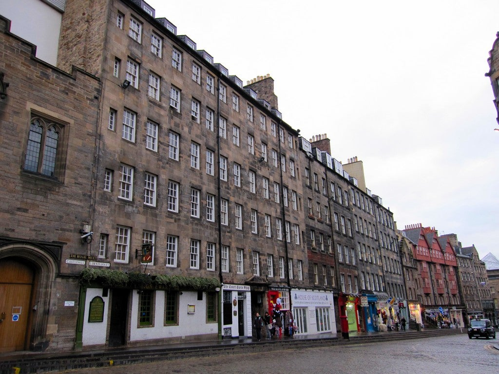 Pared en Royal Mile