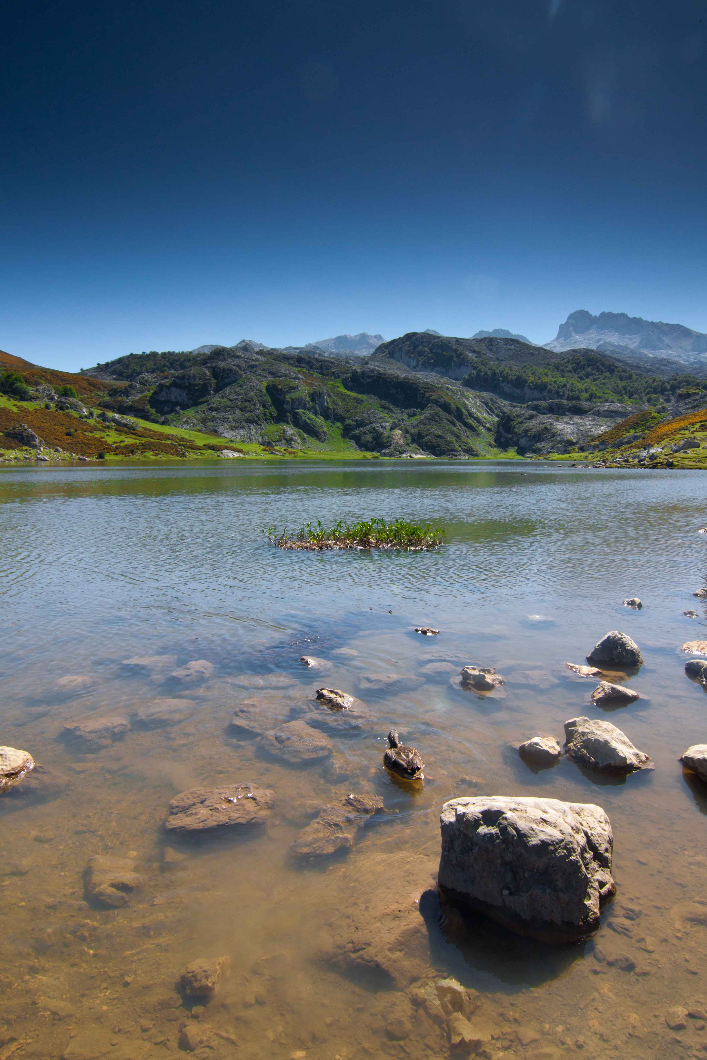 Sand in The Lakes of Covadonga - Enol and Ercina lakes