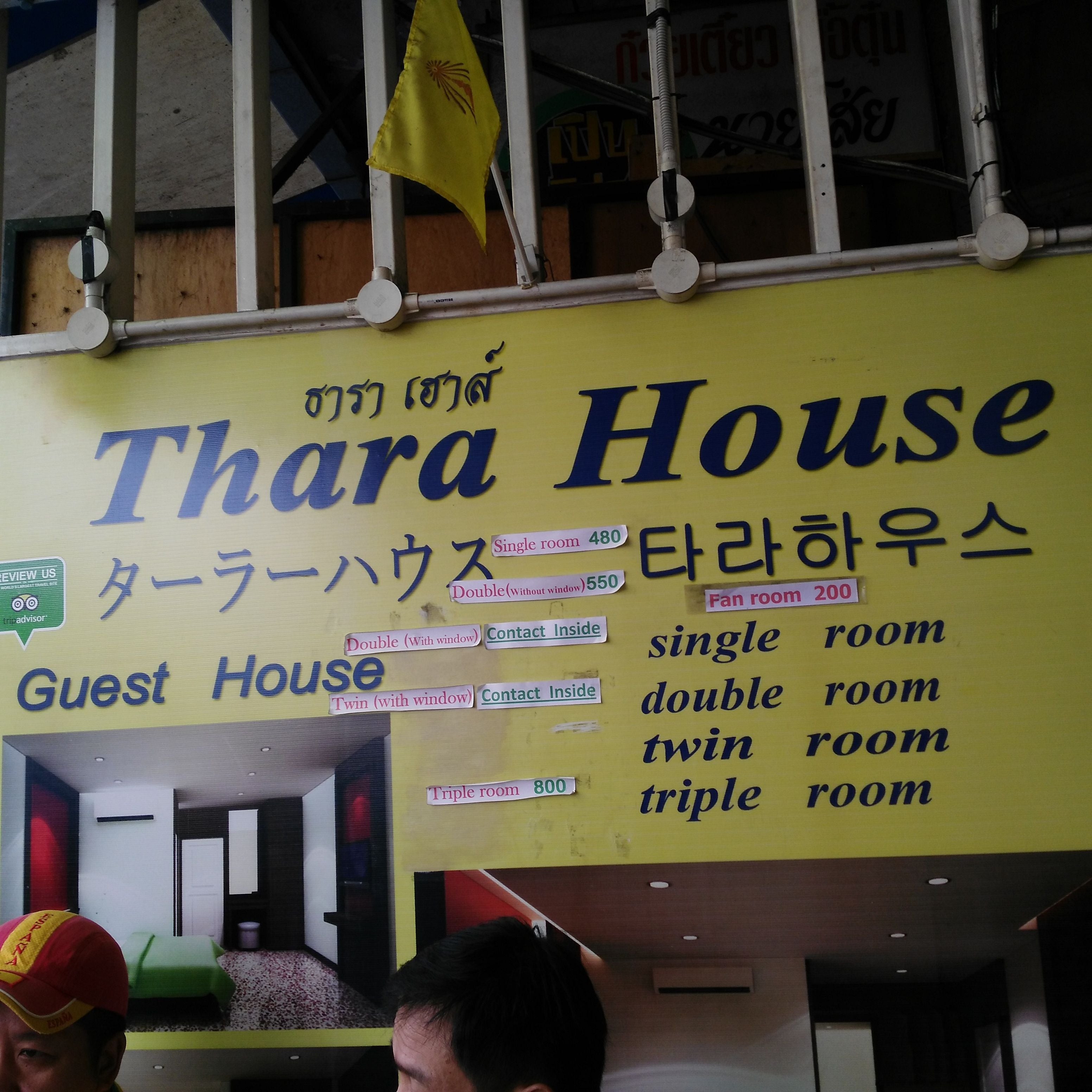 Signage in Thara Hause Guesthouse