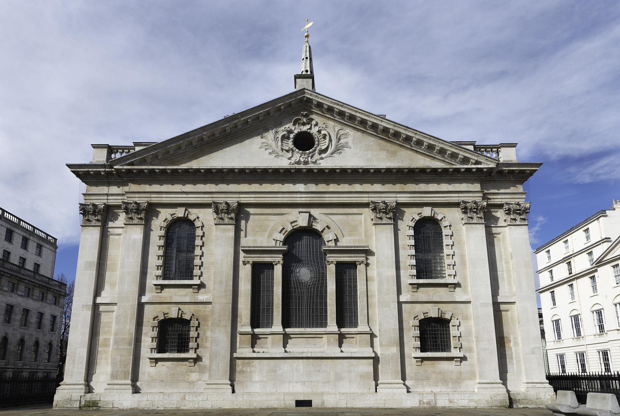 Arquitectura romana antigua en St Martin-in-the-Fields