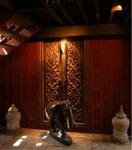 Escultura en Casa de Jim Thompson