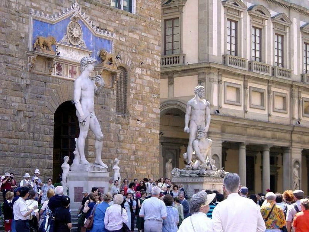 The Three Sculptures of David in Florence