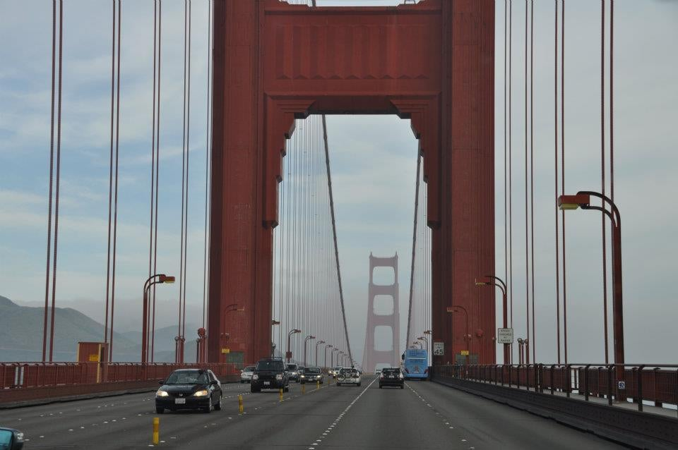 Carril en Puente Golden Gate