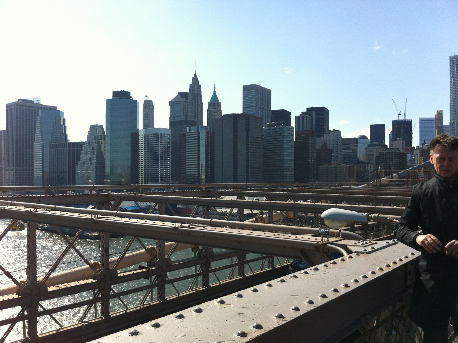 Skyline en Puente de Brooklyn