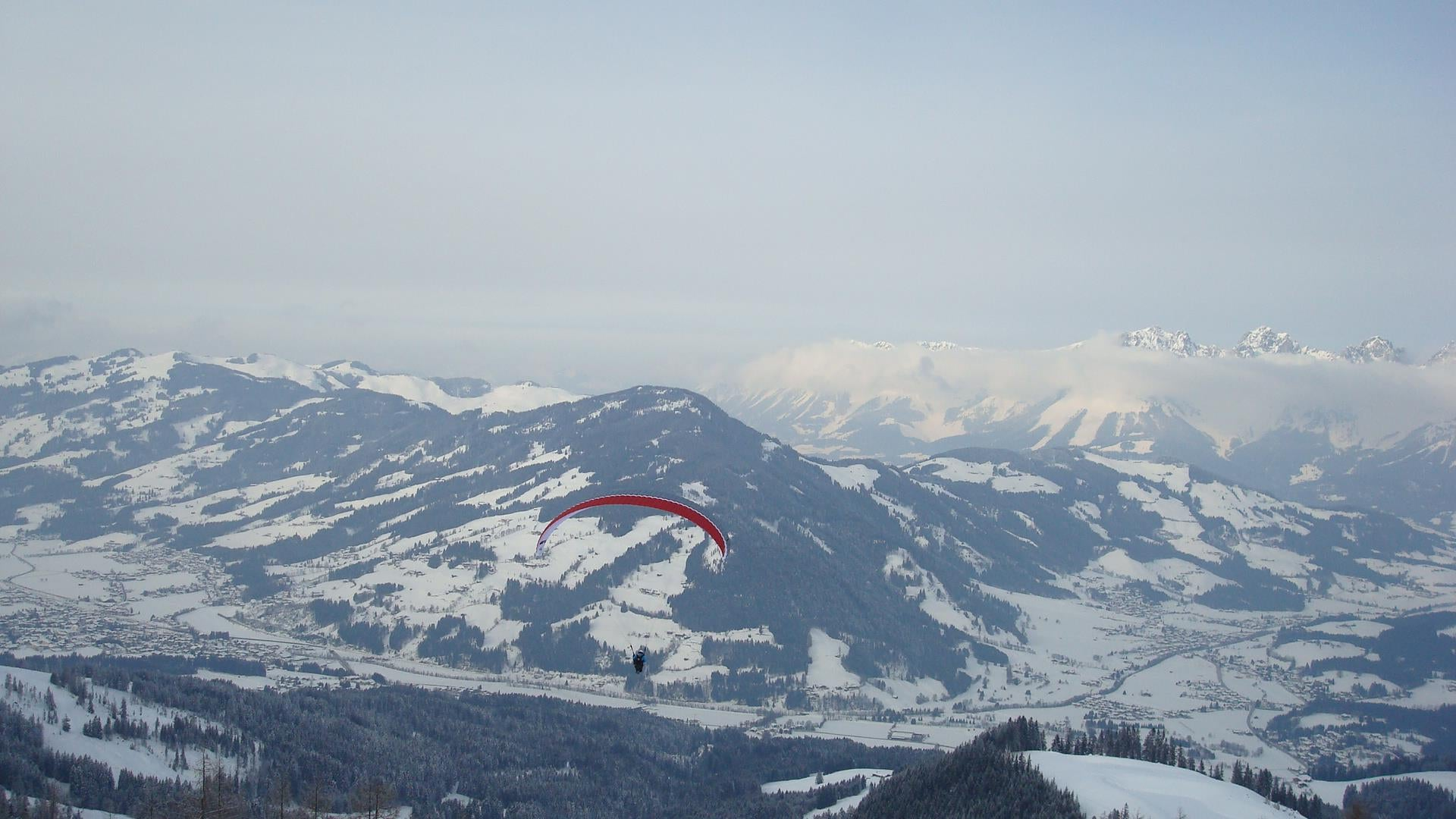 Kitzbuhel snowy mountains