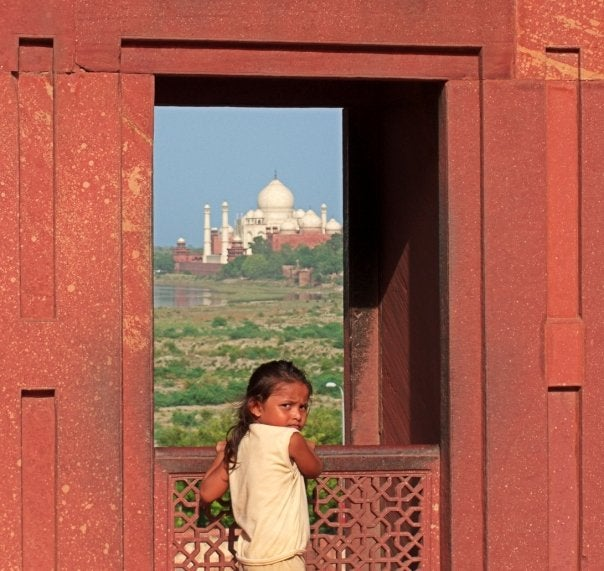 Retrato en Taj Mahal