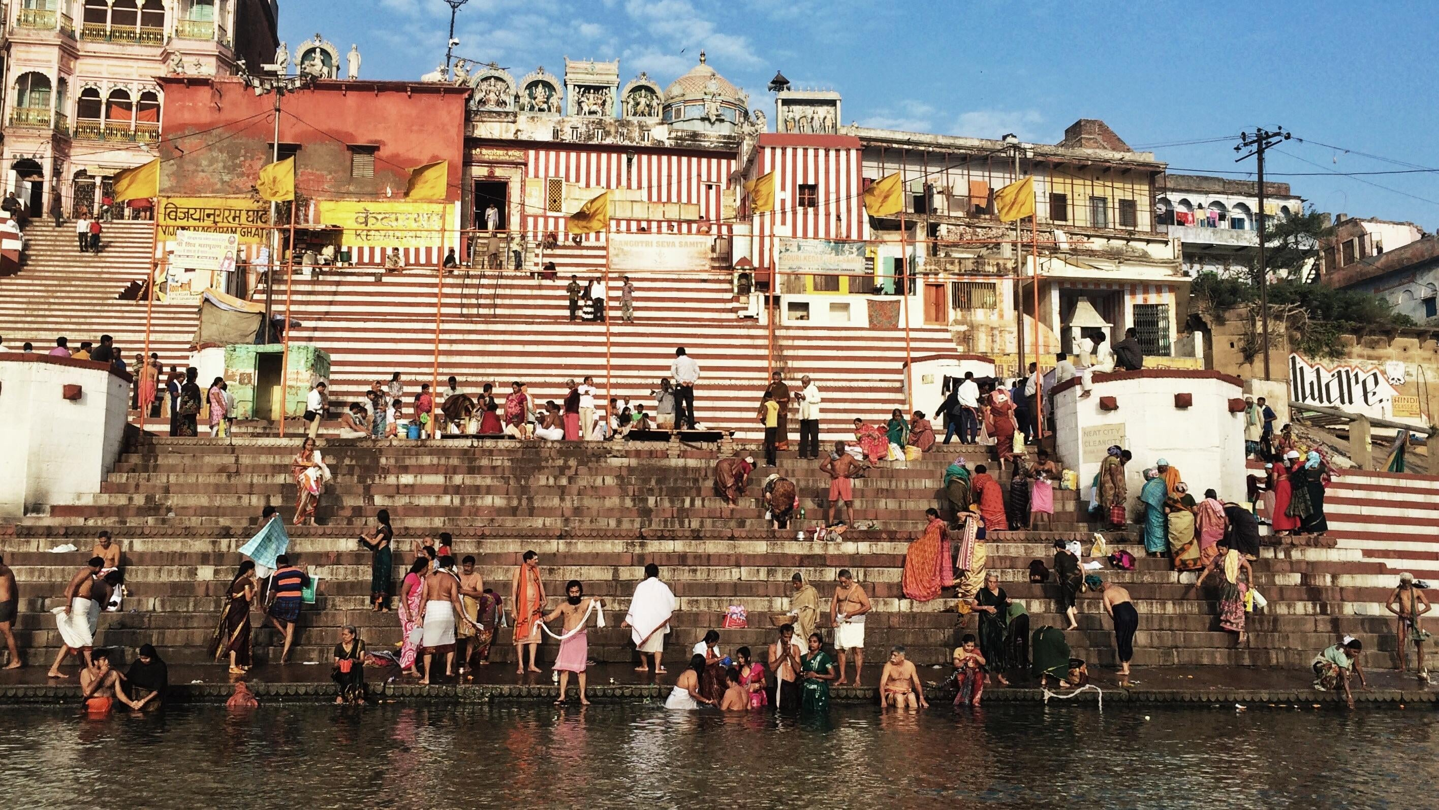 Plaza en Río Ganges