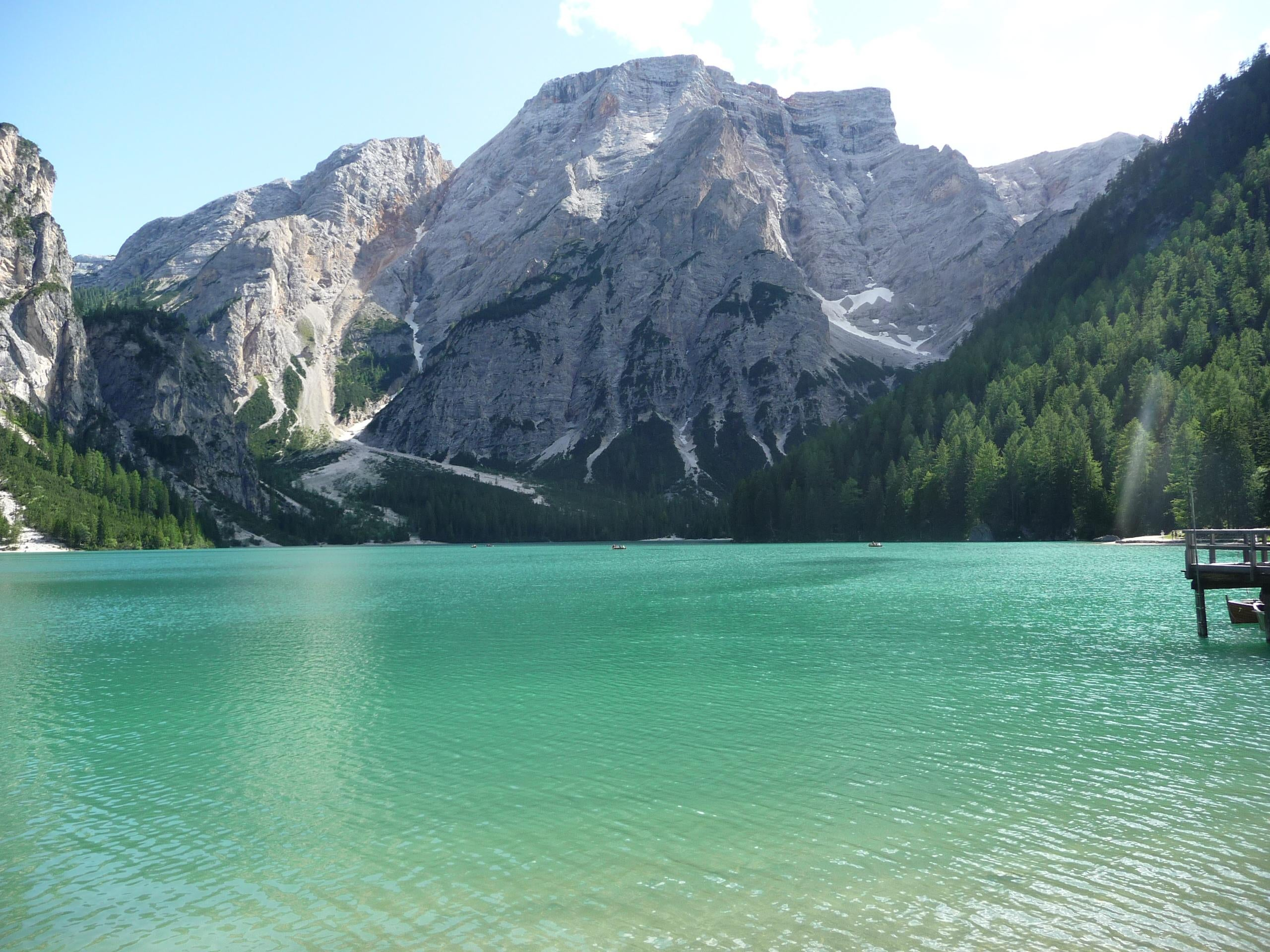 Morrena en Lago de Braies