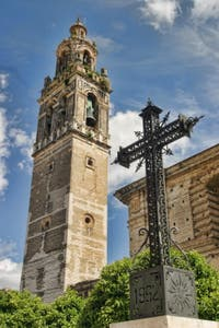Tower of the older Church of Santacruz