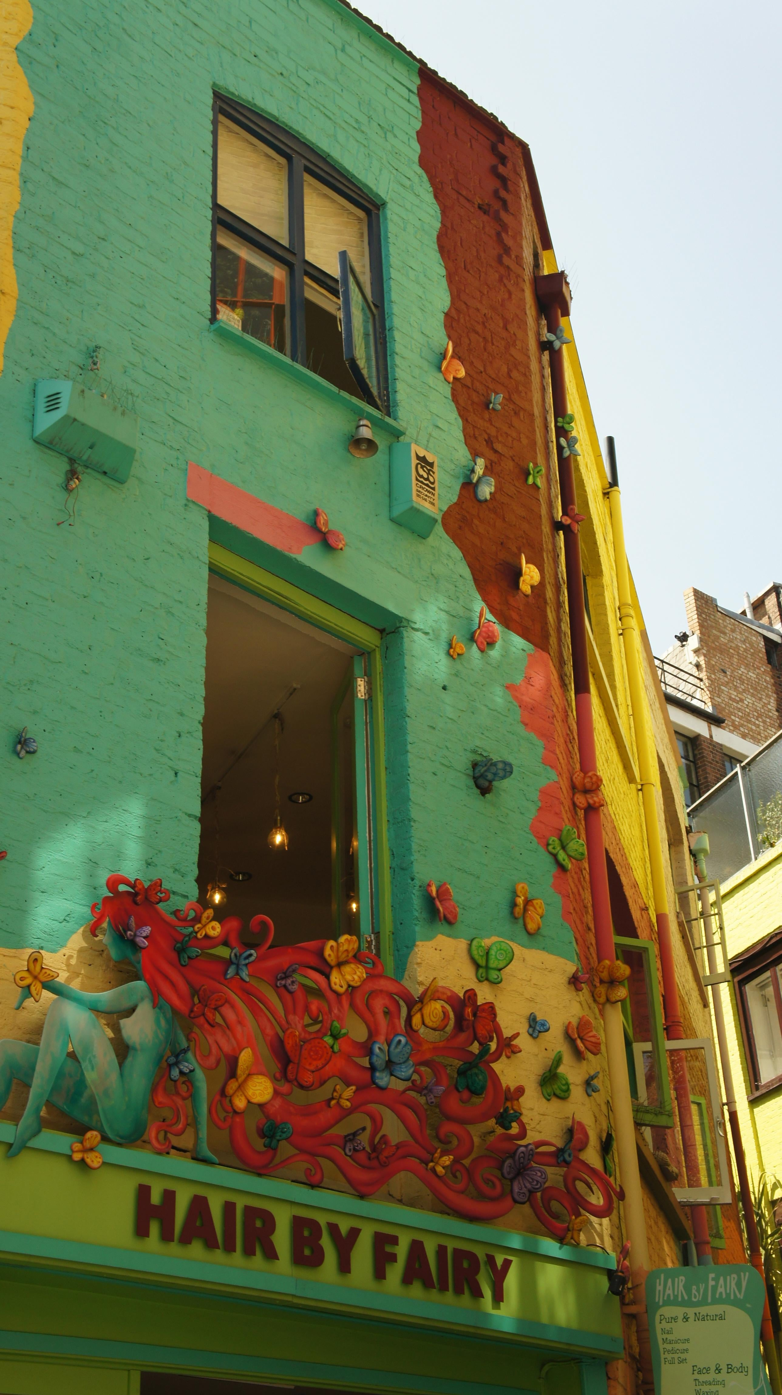 Pared en Neal's Yard