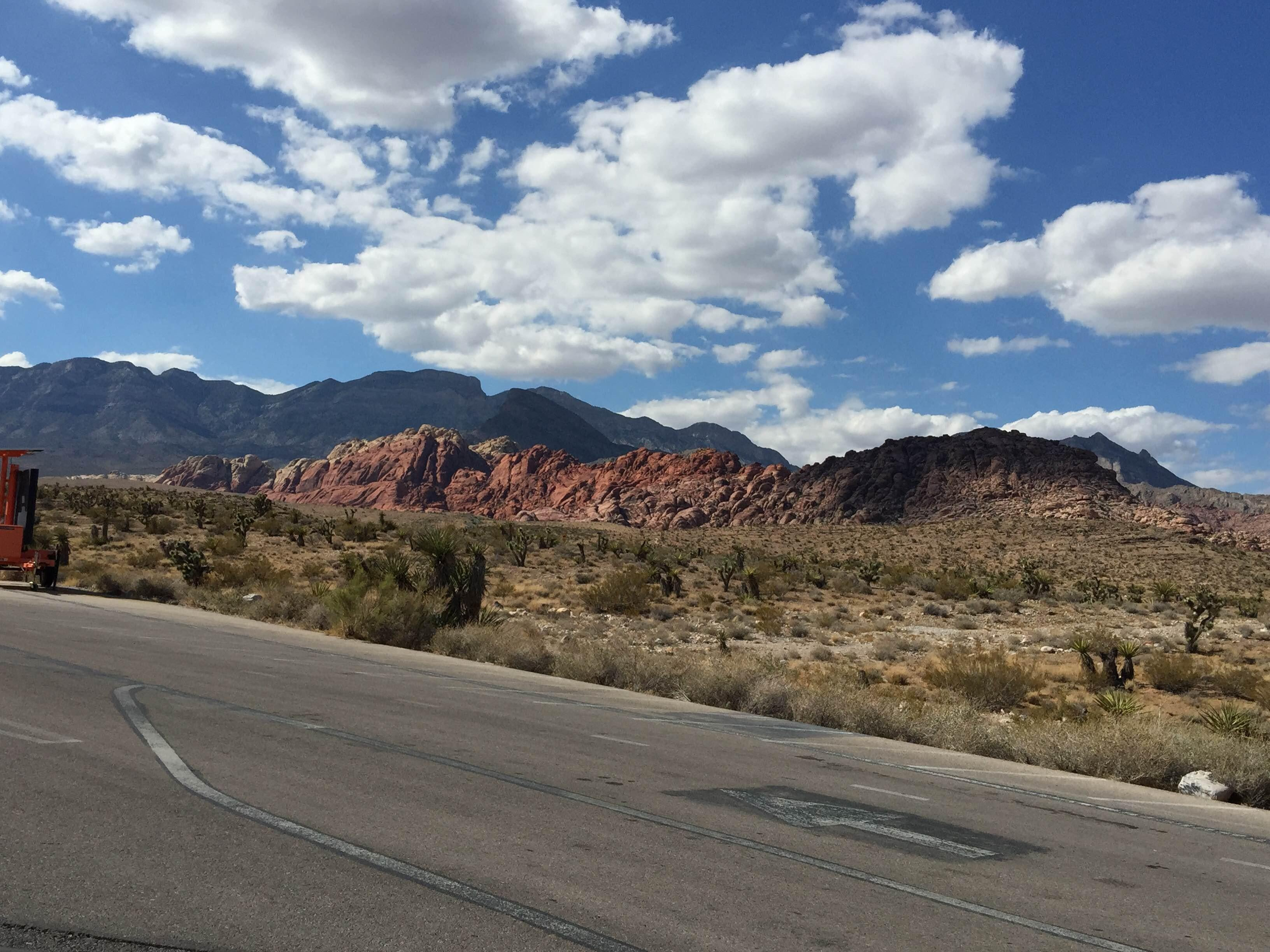 Calle en Red Rock Canyon National Conservation Area