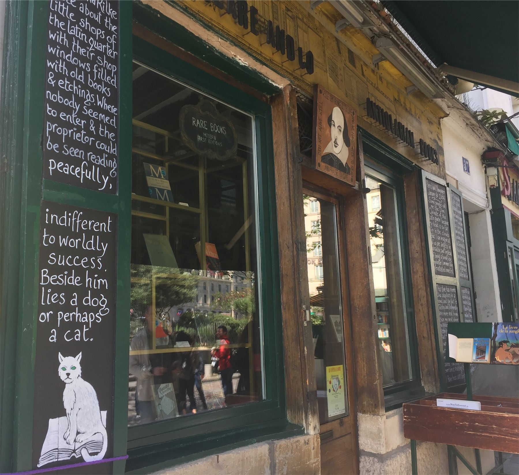 Restaurante en Shakespeare & Co.