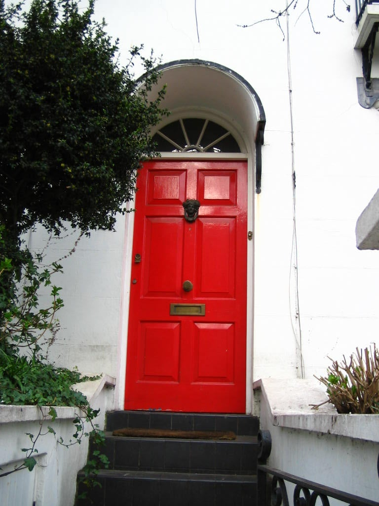 Rojo en Barrio de Hampstead