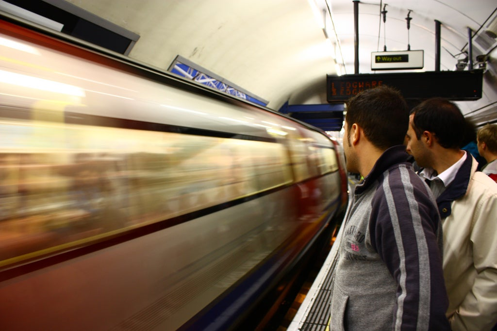 Reflejo en London Tube