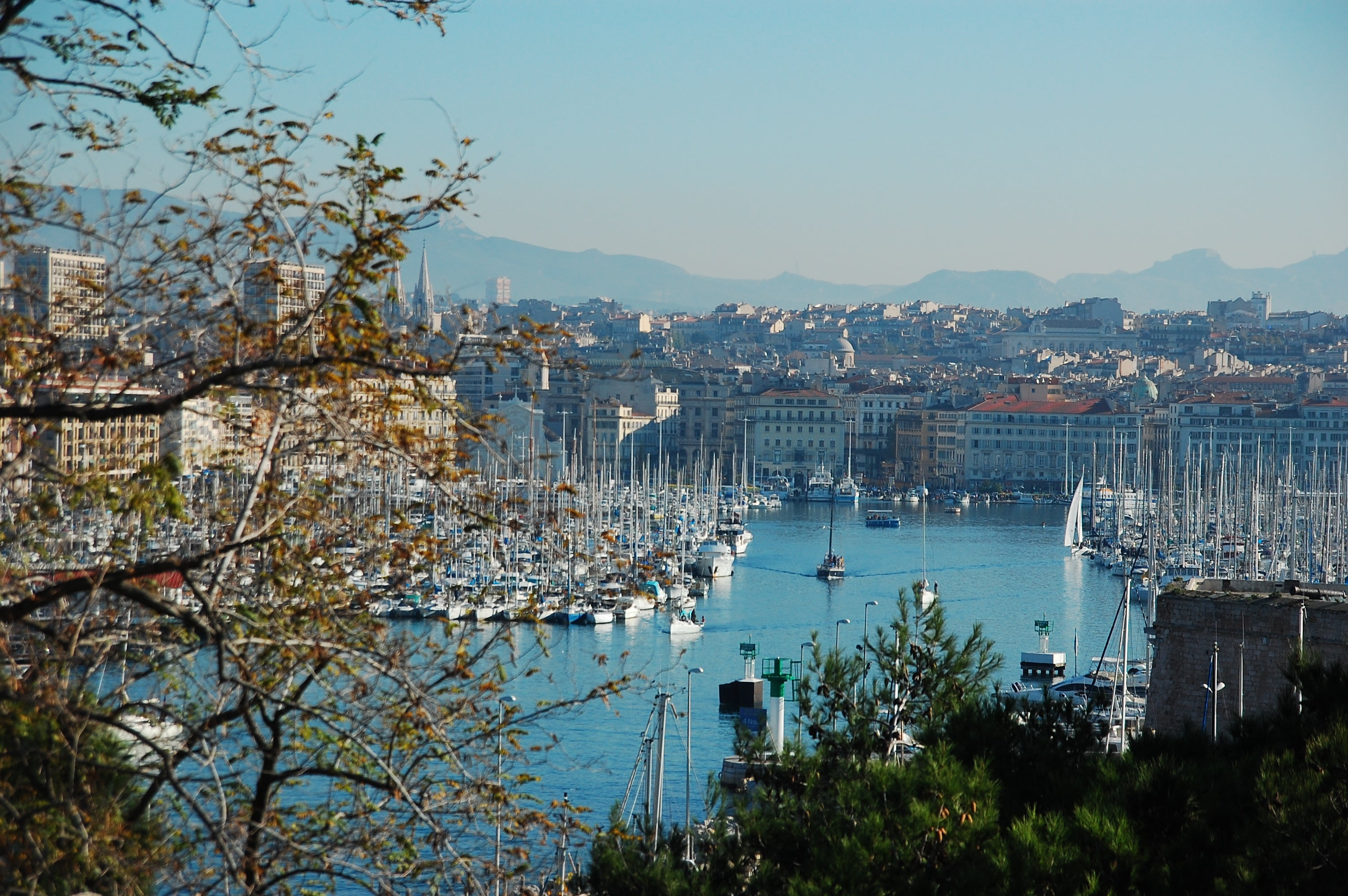 Lake in Port of Marseille