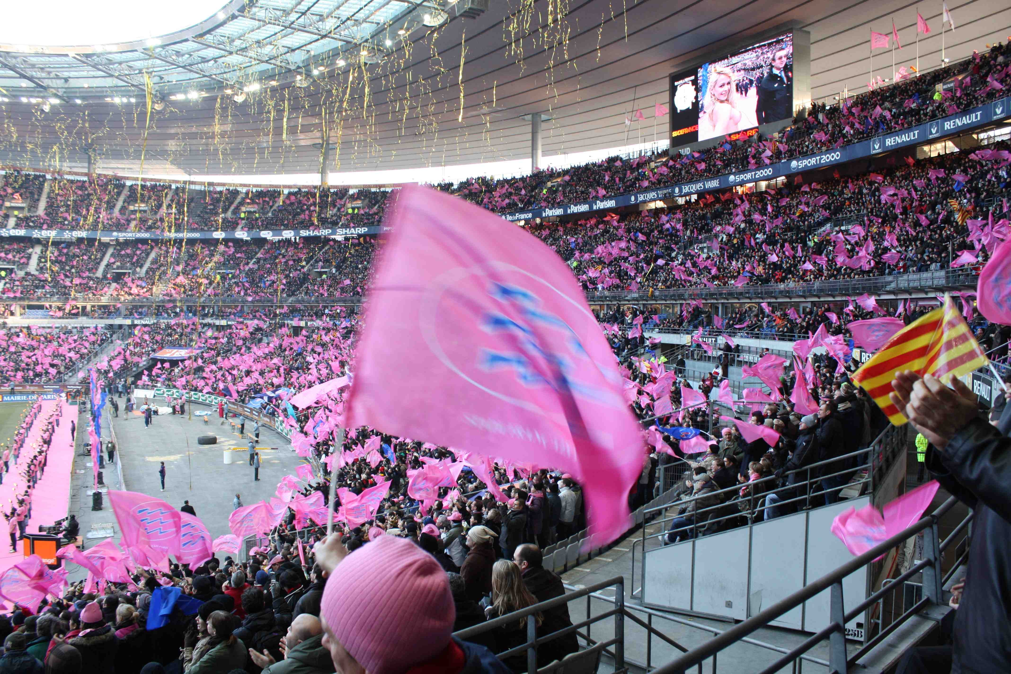 Color rosa en Estadio de Francia