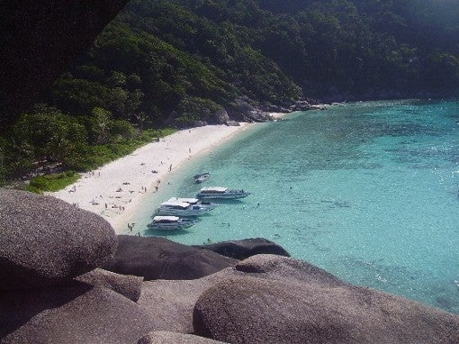 Mar en Islas Similan