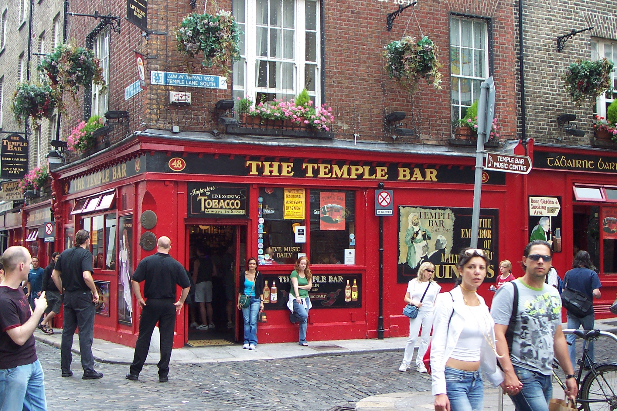 Tranvía en Temple Bar